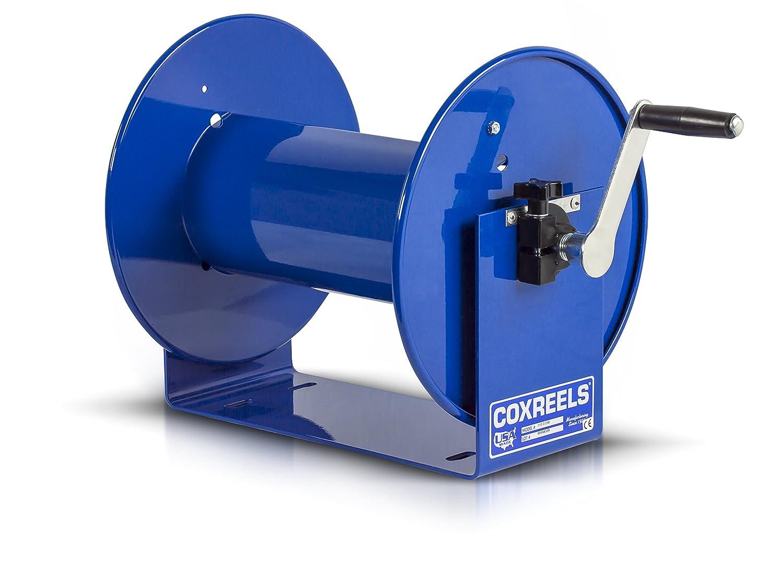 "Coxreels 112-3-100 100 Series Challenger Reel, 3/8"" Hose ID, 3/8"" Hose OD,Blue, 100' Length"
