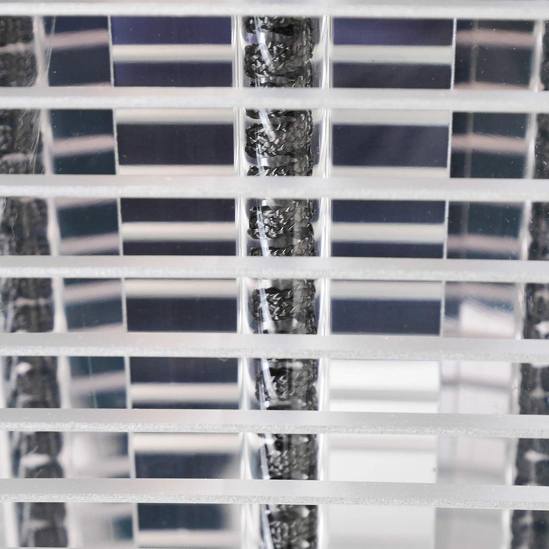 Standheizstrahler Terrasse 4 Stufen Fernbedienung Elektro Terrassenstrahler silber VASNER HeatTower Infrarot-Heizstrahler mit Standfu/ß 2500 W IP65 Schutz