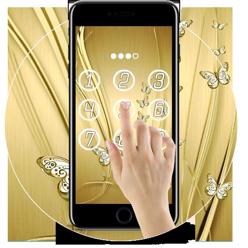 Amazon Com Golden Butterfly Luxury Lock Screen Appstore