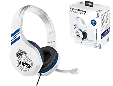 Real Madrid Auriculares gaming - accesorio gamer para PS4, PS4 Pro, Xbox One,