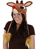 Rudolph Hoodie Hat, Light-Up Costume Accessory by elope