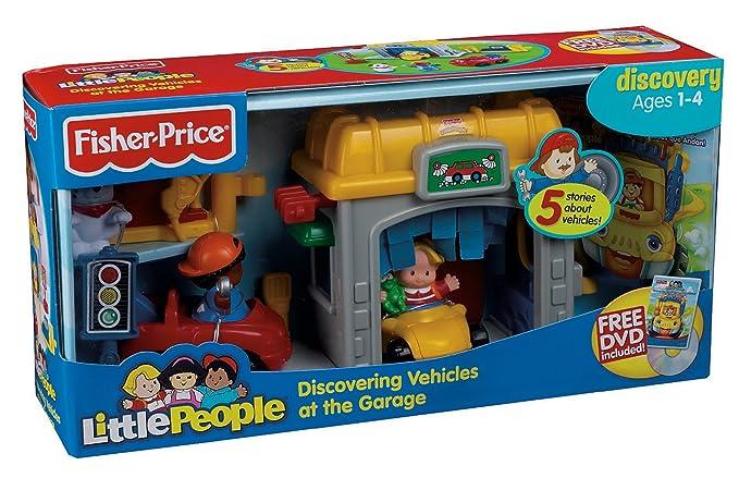 Garage Little People : Fisher price n9997 little people vehicle garage tankstelle