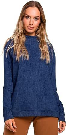 MOE - made of emotion Jersey Liso Oversize - Denim
