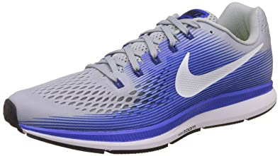 free shipping e8203 87148 Nike Men's Air Zoom Pegasus 34 Grey Blue Running Shoes(880555-007)