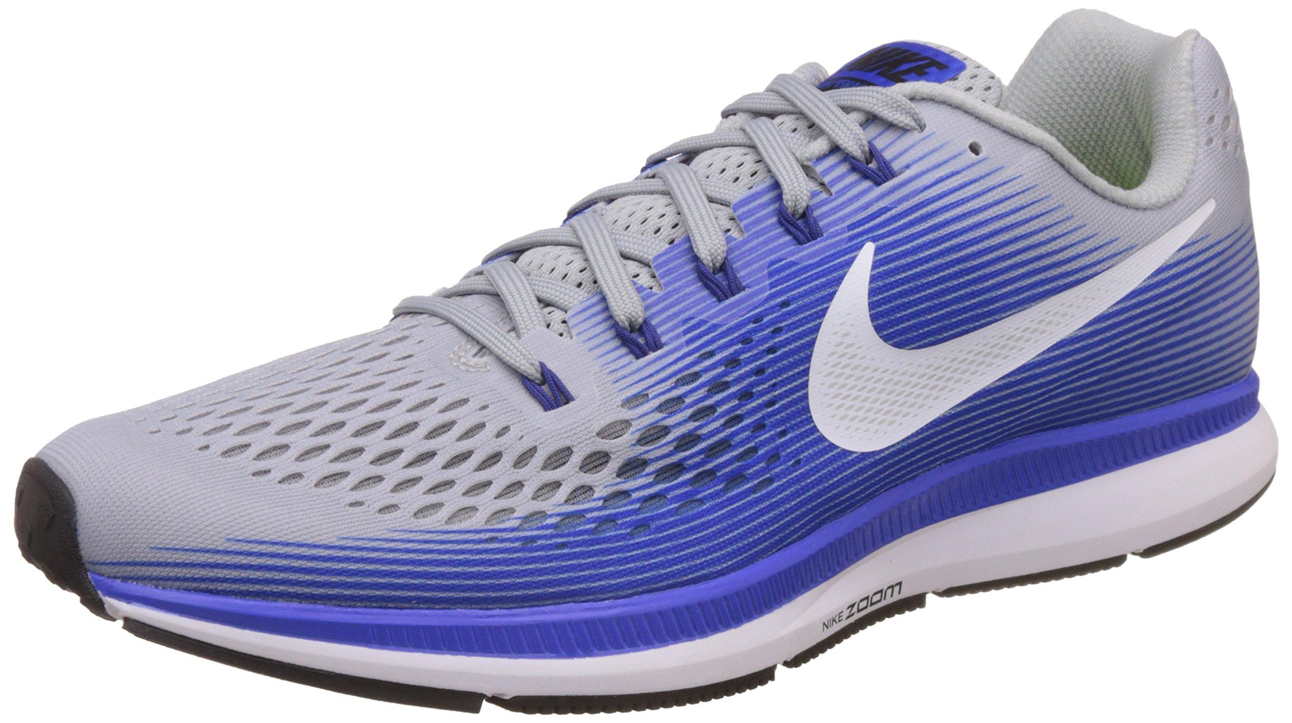 NIKE Mens Air Zoom Pegasus 34 Running Shoe (11 M US, Wolf Grey/White/Racer Blue) by Nike (Image #1)