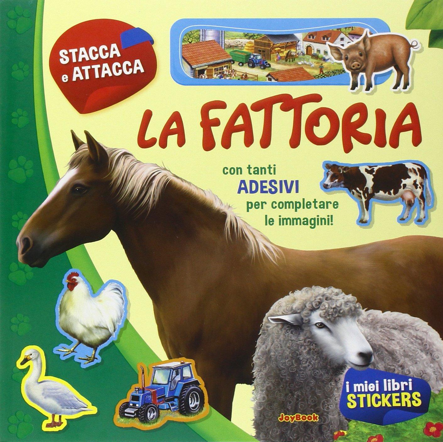 La fattoria. Con adesivi. Ediz. a colori Copertina flessibile – 31 ago 2015 aa.vv. Joybook 8866404233 Libri con adesivi