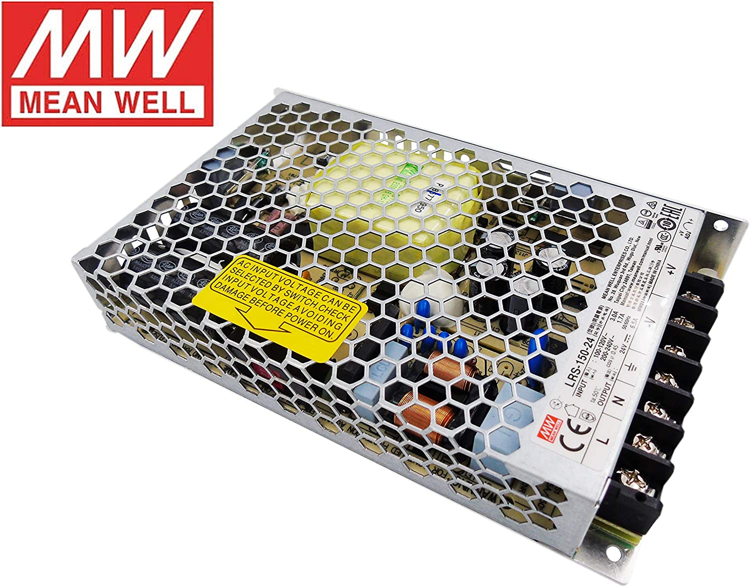 MeanWell Fuente de alimentacion 156W 24V 6.5A Enclosed LRS-150-24 Power Supply AC/DC