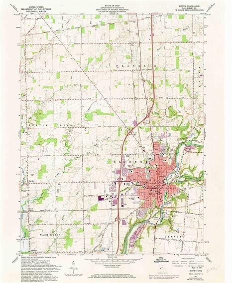 Amazon Com Yellowmaps Sidney Oh Topo Map 1 24000 Scale 7 5 X 7 5