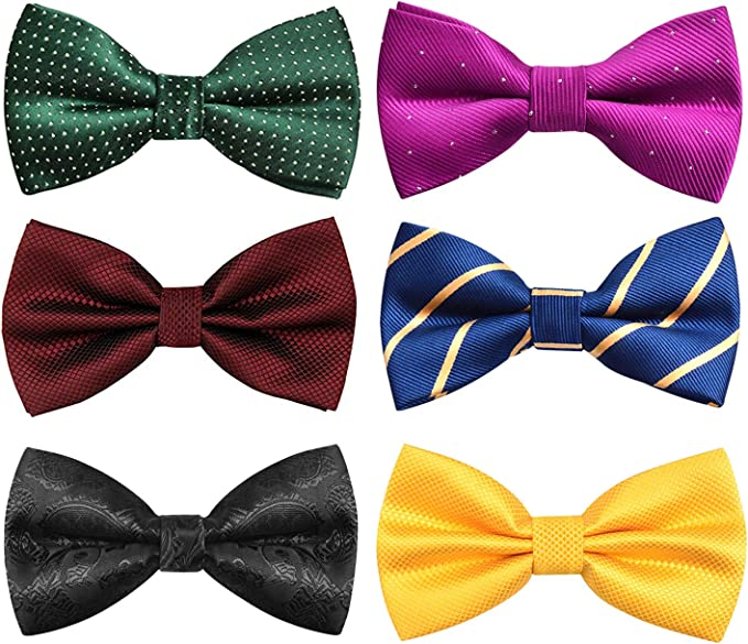 Pre Tied Bow Tie with Adjustable Neck Strap Boys and Mens Size Options