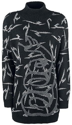 Metallica EMP Signature Collection Sudadera mujer cuello alto Negro