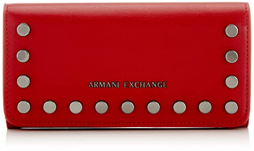 Armani Exchange - Wallet With Stud, Carteras Mujer, Rojo ...