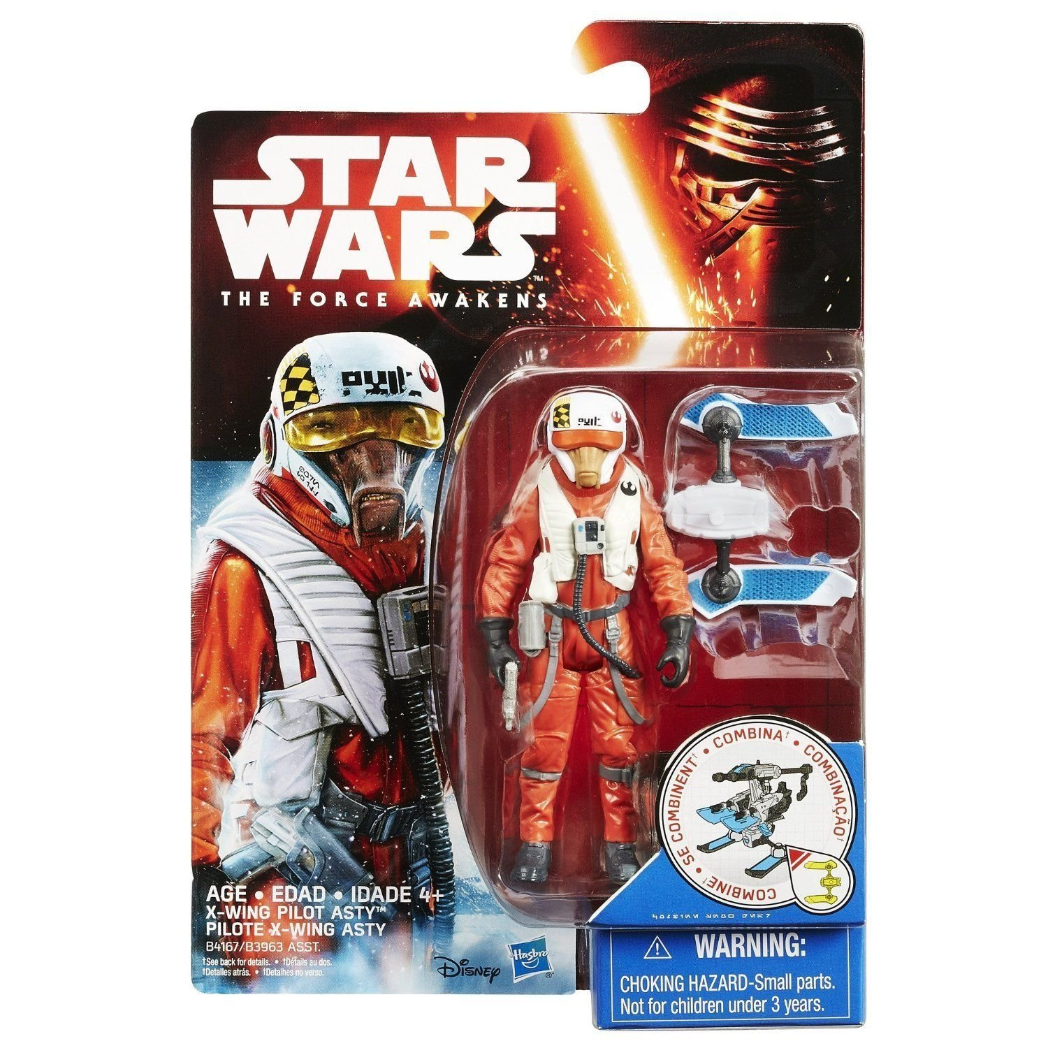 Star Wars The Force Awakens 375 Inch Figure Snow Mission X Wing Asty Top Pilot Toys Games