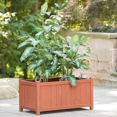 New Wood Planter Trough Wooden Garden Folding Square Plant Pot