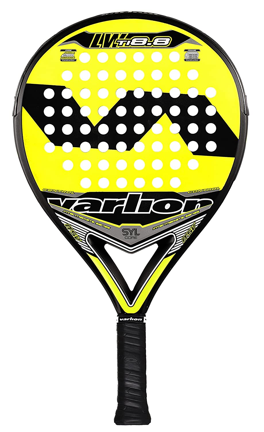 Varlion L.W. TI 8.8 SYL - Pala de pádel, 38mm, color amarillo: Amazon.es: Deportes y aire libre
