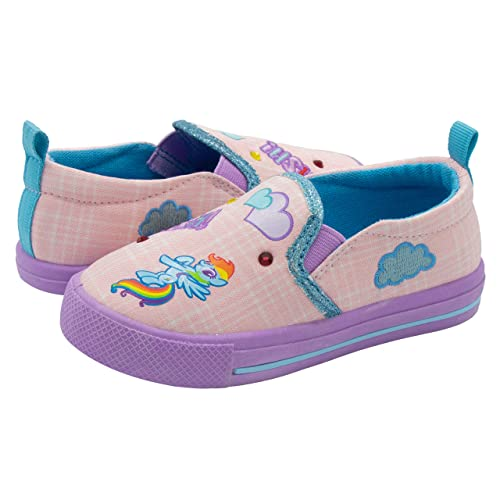 414dba9209216 My Little Pony Pink Slip On Sneakers for Girls; Fun Character Girls Sneakers