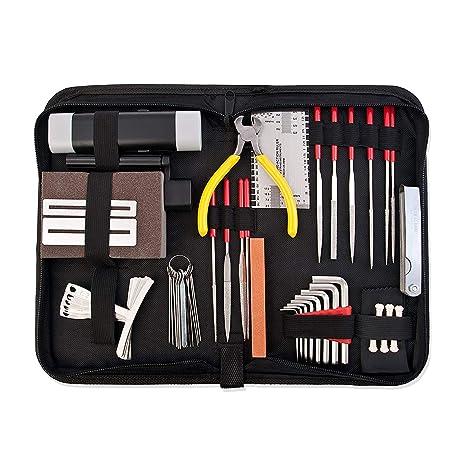 TOOGOO Kit de accesorios de reparacion y mantenimiento de guitarra- Cuidado completo Juego de herramientas
