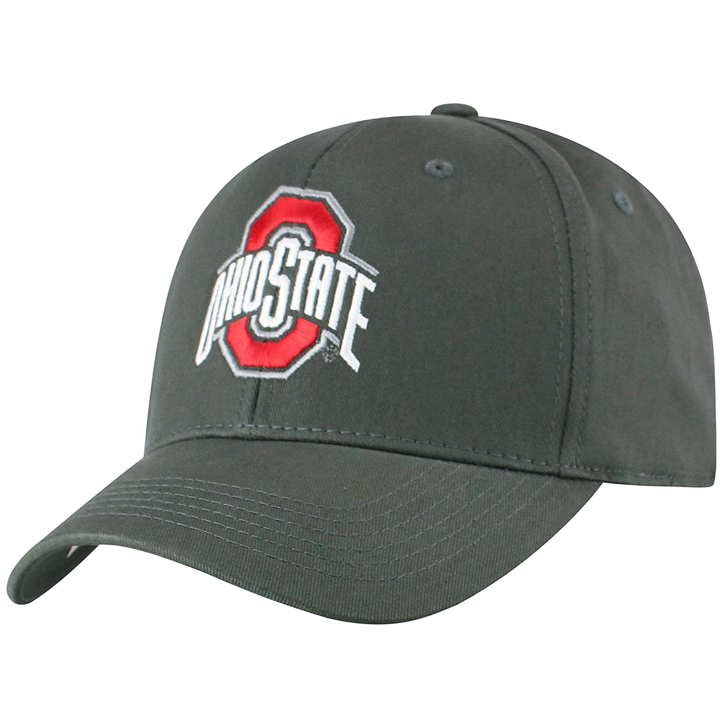 Top of the World NCAA Ohio State Buckeyes Men's Fitted Relaxed Fit Charcoal Icon Hat Charcoal