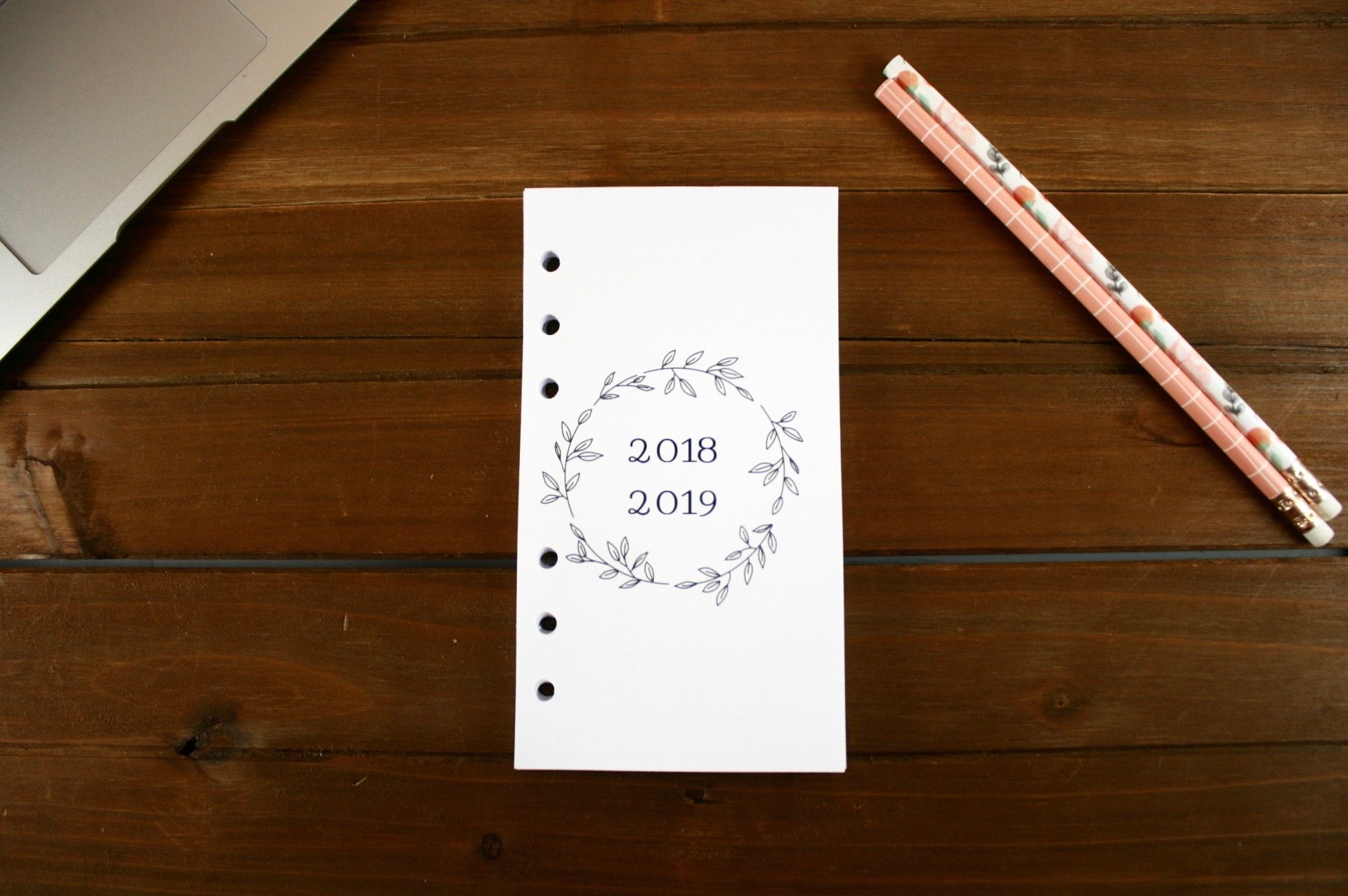 Personal Size 18 Month 2018-2019 Montly Refills (Dated JULY 2018-DECEMBER 2019), Personal Filofax 2018 Refill Pages, Personal Monthly Refills, Color Crush, Kate Spade 18 Month Calender Refill