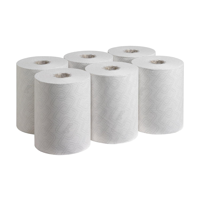 Scott 6695 Essential Slimroll Essuie Mains Roul/és 1 Pli 190 m Blanc Pack de 6