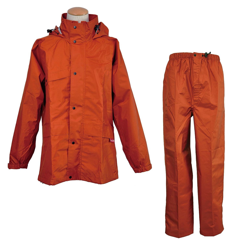 コヤナギ 【ムレないのに、濡れない。】 《防水透湿性+耐久撥水性/エントラントGⅡ》 ニューグランドスラムレイン #8200 B00KKM2AJC LL|オレンジ オレンジ LL