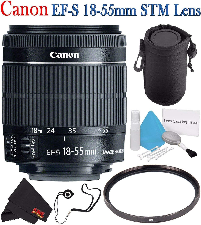 White Box High Definition U.V + Lens Hard Tulip Filter Canon 18-55mm is STM Lens 3pc High Definition Filter Kit UV CPL FLD