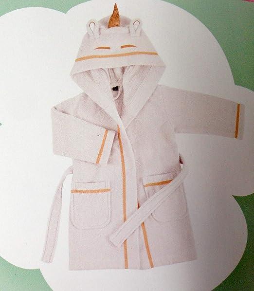 Bassetti - Albornoz Infantil con Capucha Unimagic, Color Y1 Blanco ...