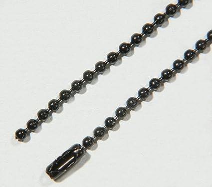 SBS® Cadena Bola de acero inoxidable Ø 3,2 mm Negro 1 metro ...