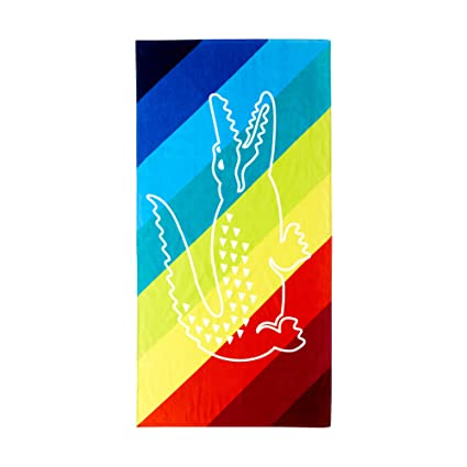 New Genuine Lacoste tamaño grande GATOR logotipo toalla de playa (cm x 90 cm)