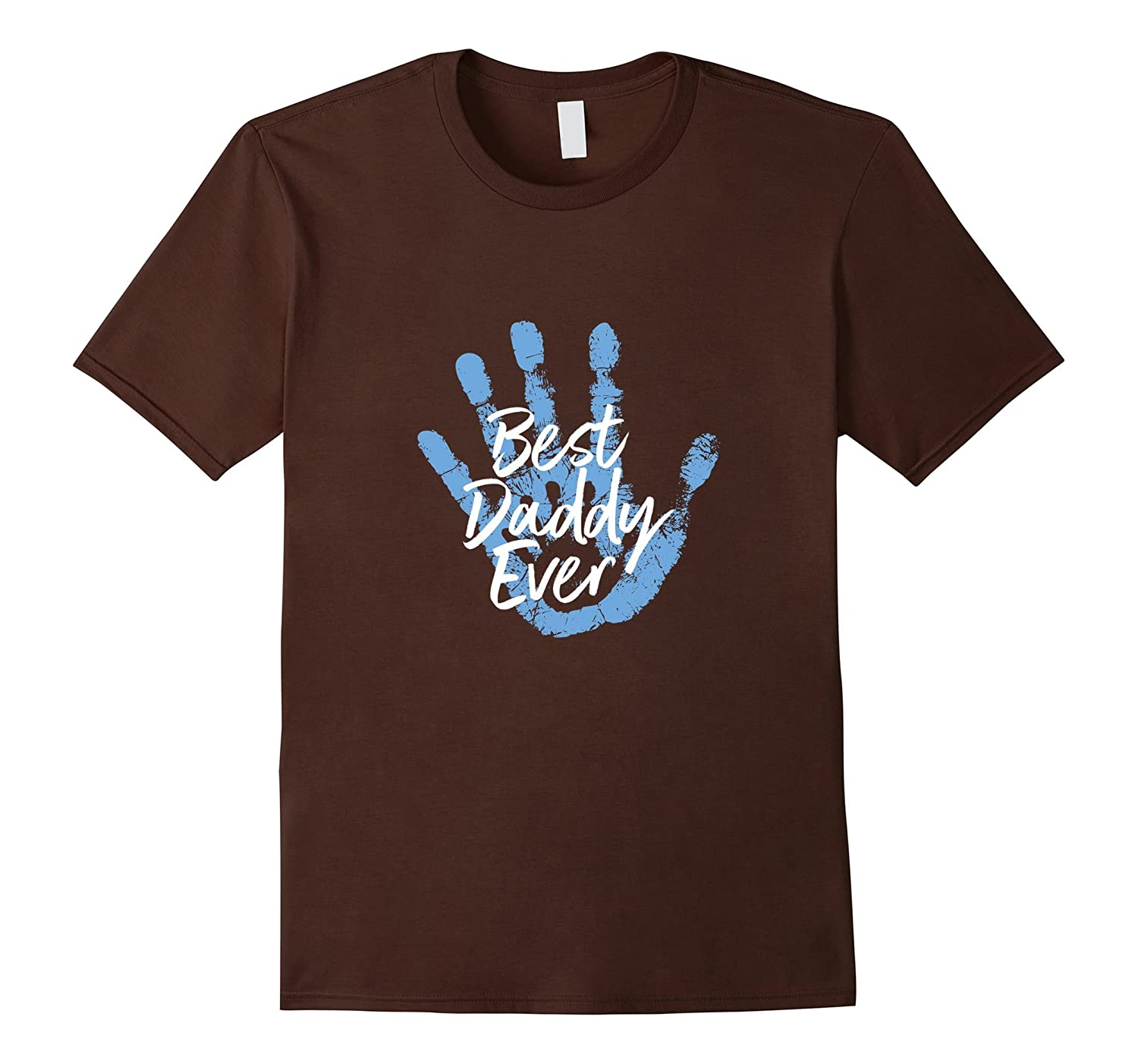 Mens Cute Best Daddy Ever Hand print Tshirt-Vaci