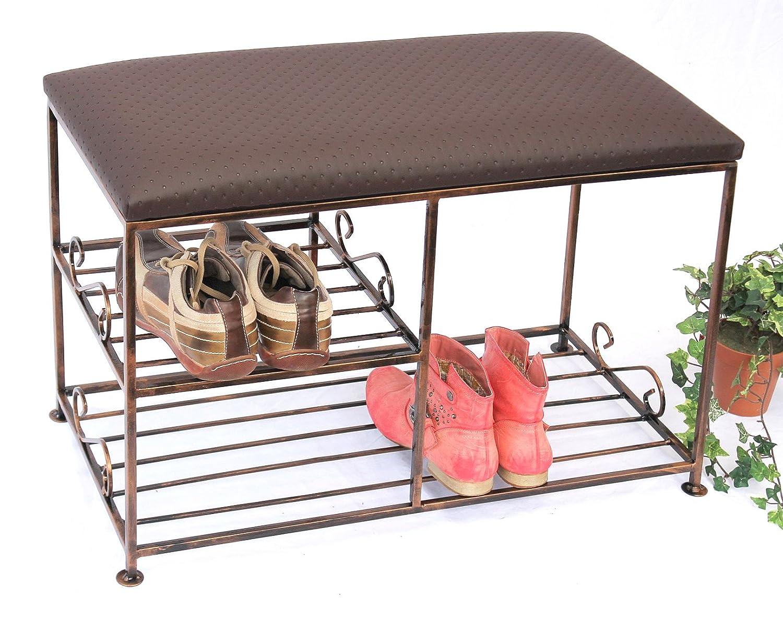 Schuhregal mit Sitzbank Art.295 Bank 70 cm Schuhschrank aus Metall ...