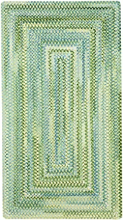product image for Capel Rugs Waterway Rectangle Braided Area Rug, 7' x 9', Yellow