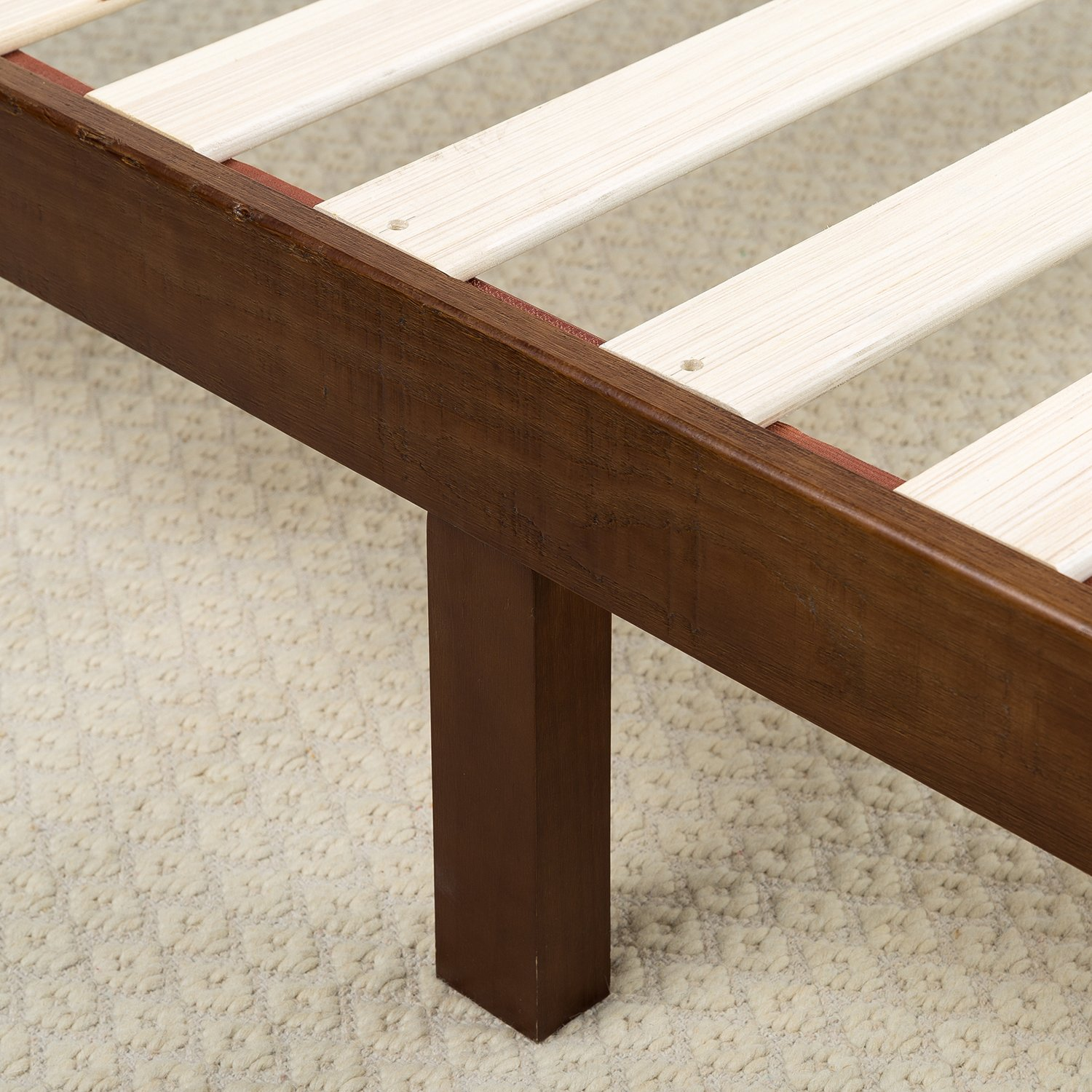 Zinus 12 Inch Wood Platform Bed / No Boxspring Needed / Wood Slat Support / Antique Espresso Finish, Twin by Zinus (Image #3)