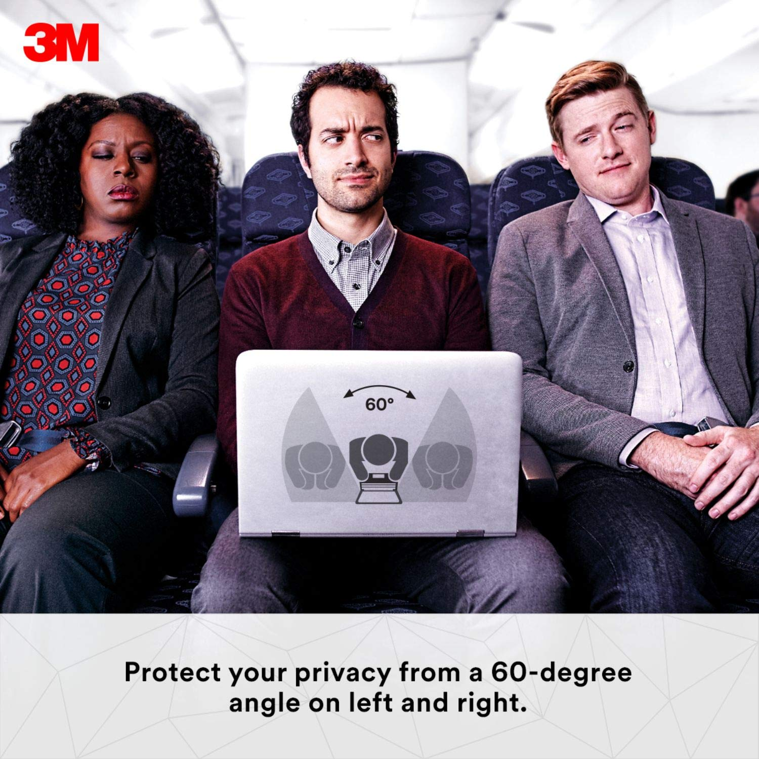 3M Privacy Filter for 15.6'' Edge-to-Edge Widescreen Laptop (PF156W9E) by 3M (Image #2)
