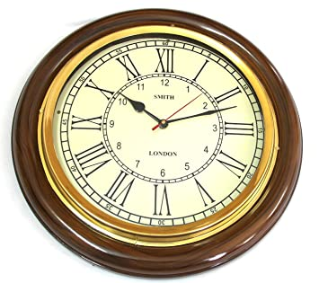 Superb Artshai 16 Inch Big Wall Clock For Living Room And Office. Antique  Look,Brass Part 24