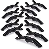Deke Home Women styling hairclip - 12 pcs professional alligator plastic hair sectioning clips - Durable alligator hair clip with nonslip grip & wide gator big teeth for easy styling thick/thin