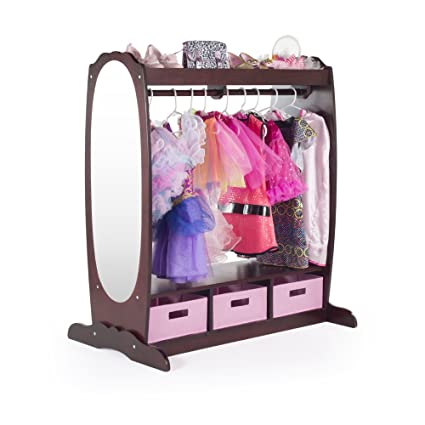 Captivating Guidecraft Dress Up Storage U2013 Espresso: Kidsu0027 Costume Dresser, Armoire With  Rack,