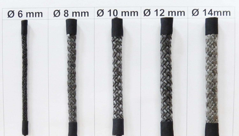 DICH Junta para puertas de chimeneas, diámetro: 6-8-10-12-14 mm, sin pegamento