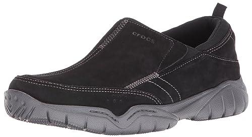 Crocs Swiftwater Suede Moc - Zapatillas Hombre: Amazon.es: Zapatos y complementos