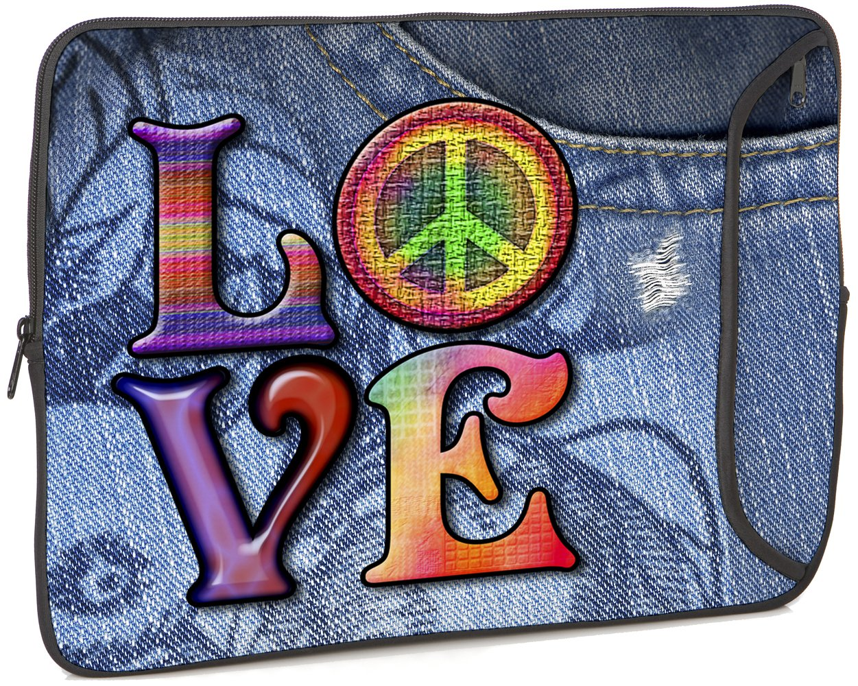 Love(Peace) Designer PC Sleeve Size: 15''