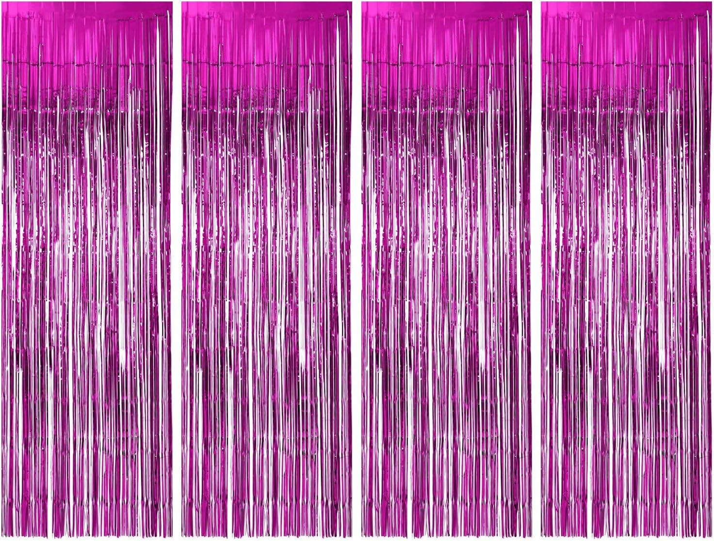 YWILL Cortinas de Malla Metálica/Cortina de lámina/Franjas Decoración Fondopara Fiesta de Cumpleaños/Bodas,Decoraciones Bricolaje Ventana/Puerta Apoyos Foto/Fotomatón para Festival Navidad (1x2.5m)