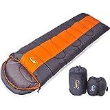 DesertFox 寝袋 封筒型 軽量 防水 コンパクト アウトドア 登山 車中泊 丸洗い 1kg 1.4kg 1.8kg オールシーズン 夏用 冬用 収納袋付き