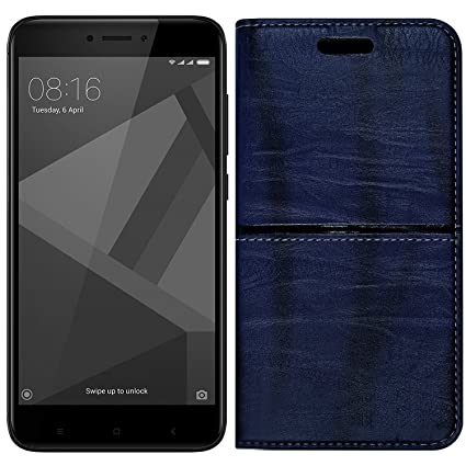 size 40 8732f 12435 Roxel Redmi 4 Rich Boss Leather Flip Cover with: Amazon.in: Electronics