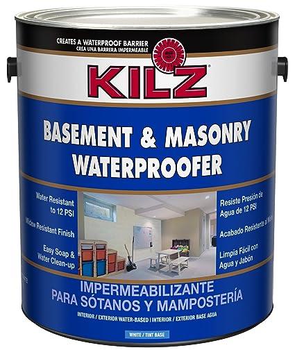 KILZ Interior/Exterior Basement and Masonry Waterproofing Paint White 1-gallon  sc 1 st  Amazon.com & KILZ Interior/Exterior Basement and Masonry Waterproofing Paint ...