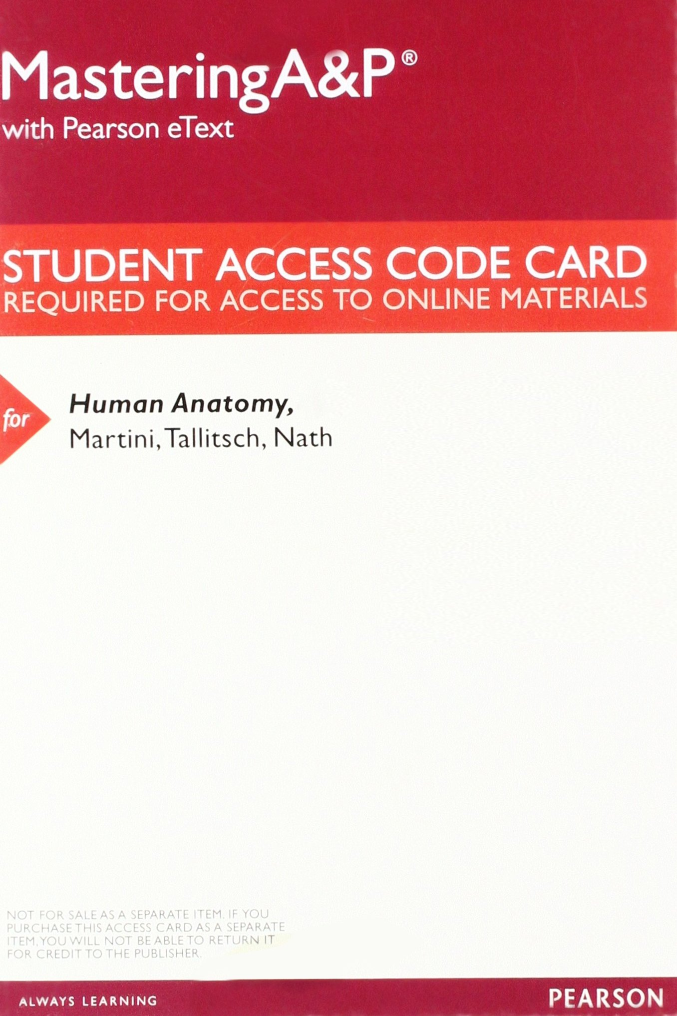 MasteringA&P with Pearson eText - Valuepack Access Card - for Human ...