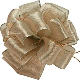 product image for Offray Wired Edge Firefly Metallic Sheer Craft Ribbon, 3/8-Inch Wide by 15-Yard Spool, Blush