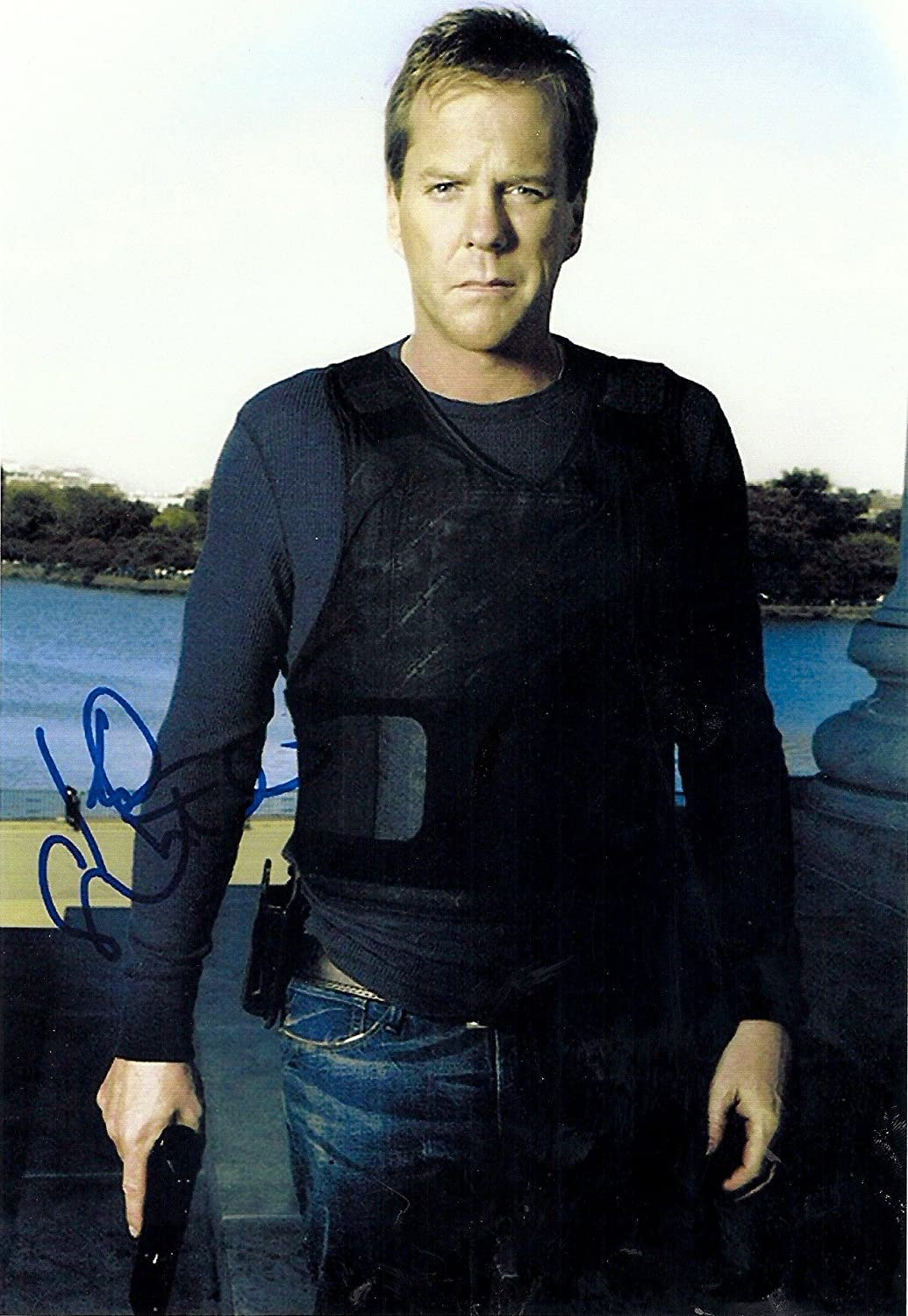 Kiefer Sutherland As Jack Bauer in 24 Signed Autographed 8 X 10 Reprint Photo - Mint Condition