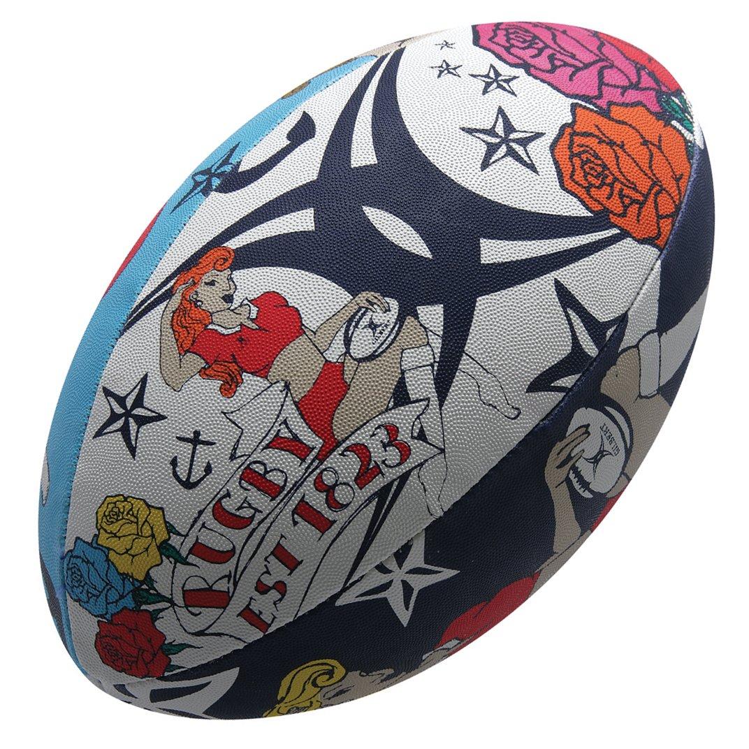 Gilbert Ballon de Rugby Randoms Tatouage