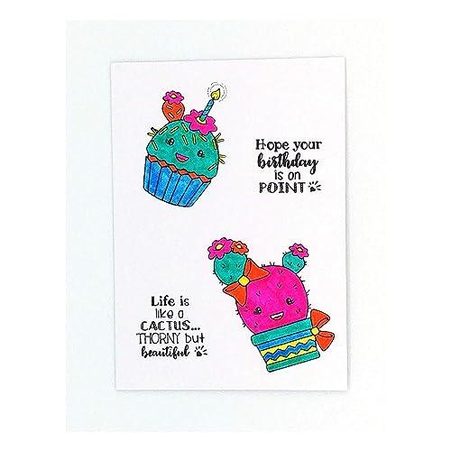 Carte Anniversaire Cactus Cup Cake Carte Joyeux Anniversaire Pour Femme Fille Soeur Enfant Carte Happy Birthday Amazon Fr Handmade
