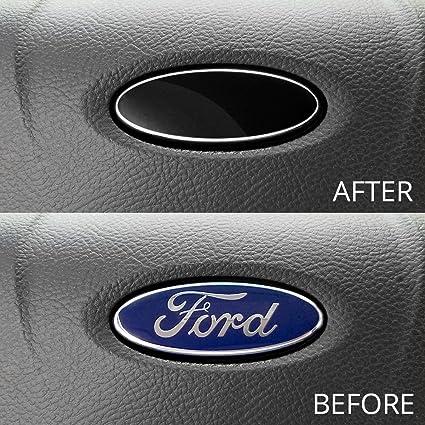 Amazon Com Ford Steering Wheel Emblem Decals Set Of 3 Black