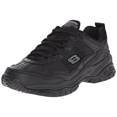 Skechers for Work Men's Soft Stride Mavin Slip Resistant Athletic Oxford: Shoes